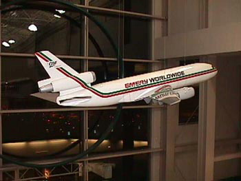 Emery Worldwide Large Static Aircraft Display Model
